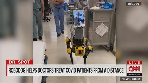 美國研發看病機器狗 讓醫師遠距看病 降低染病風險