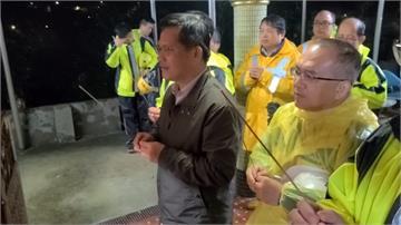 台鐵猴硐段走山連日搶修 林佳龍赴現場慰問