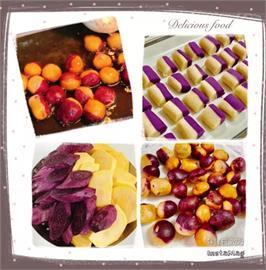 居家防疫食譜分享!夜市甜點美食「雙色地瓜球」自己做