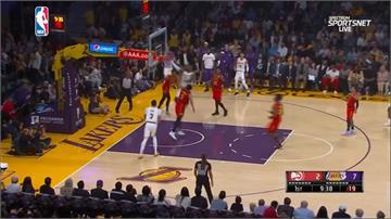 NBA/小皇帝33分12助攻獵鷹!湖人戰績登第一