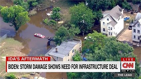 拜登再度視察艾達災區 稱氣候變遷為「紅色警戒」