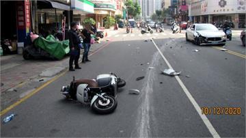 超跑、機車擦撞車禍 女騎士當場昏迷