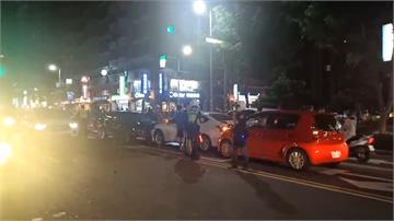 轎車淡水街頭猛衝 狂撞九車釀三傷