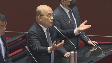 行政院小編做「哏圖」 蘇揆立院公開道歉
