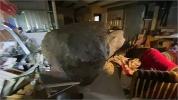 驚!瑞芳又傳土石崩落意外!「驚天巨石」砸屋毀車 屋主肋骨骨折