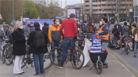 「柏林無車」團體騎上街 盼民眾連署發起公投