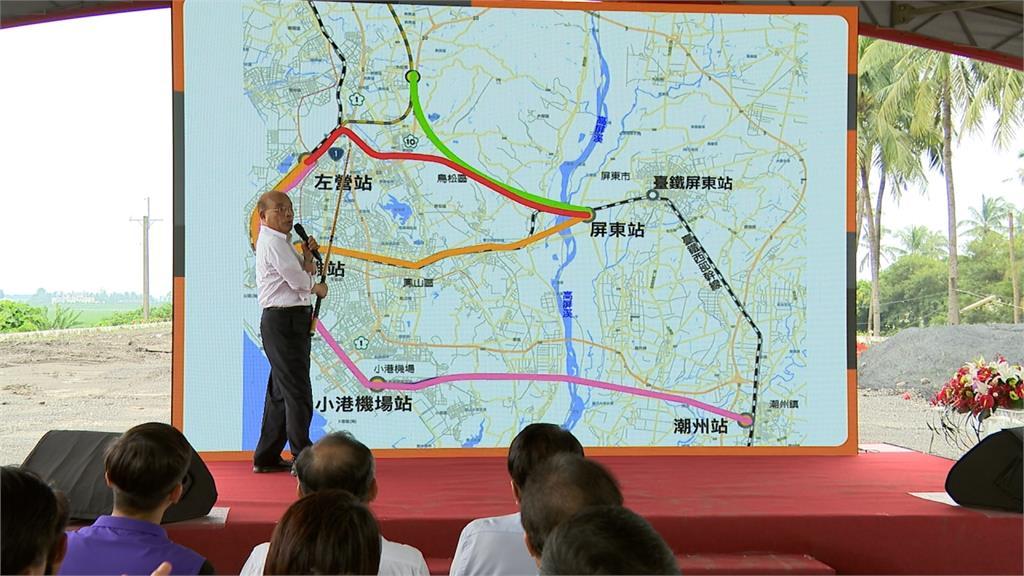 韓國瑜稱高鐵南延「左營案」取巧 蘇貞昌反批:經過市區要拆多少房?