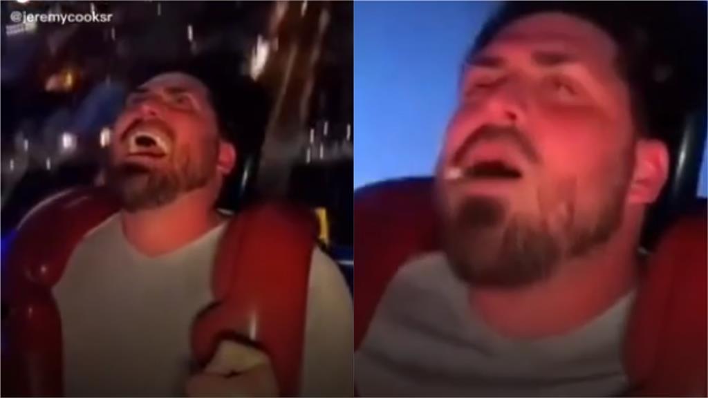 超糗!啦啦隊教練體驗高空彈弓椅 一個太嗨假牙噴飛了