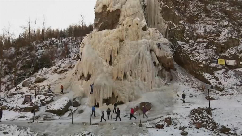 捷克冰瀑自然奇景 疫情下成攀登熱門點