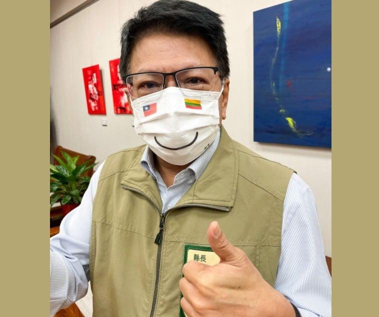 快新聞/屏東限定「台立微笑口罩」亮相 潘孟安:外交重大突破!