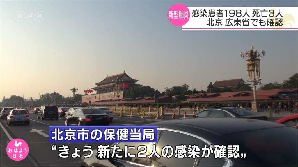 中國武漢肺炎累計3死198人確診 北京、廣東首現病例
