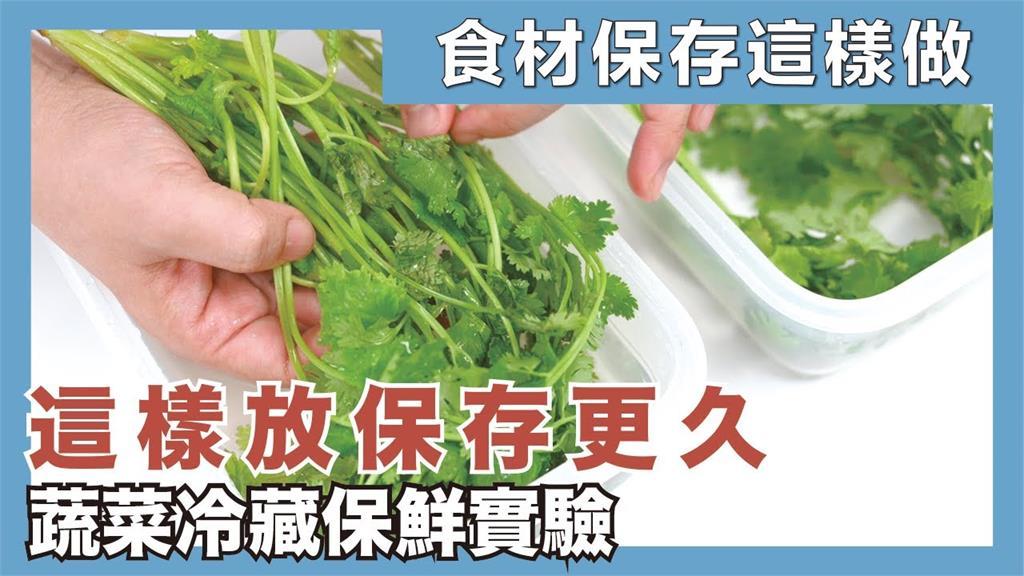 網實測青菜保存「5大超神祕訣」 結果揭曉:九層塔加水竟可常綠7天