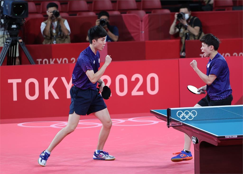 東奧/桌球黃金混雙直落4摘銅 賴清德祝賀:謝謝台灣最強的姐弟組合!