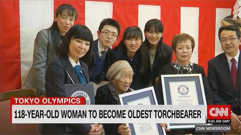 118歲人瑞田中加子 接下傳遞東奧聖火任務