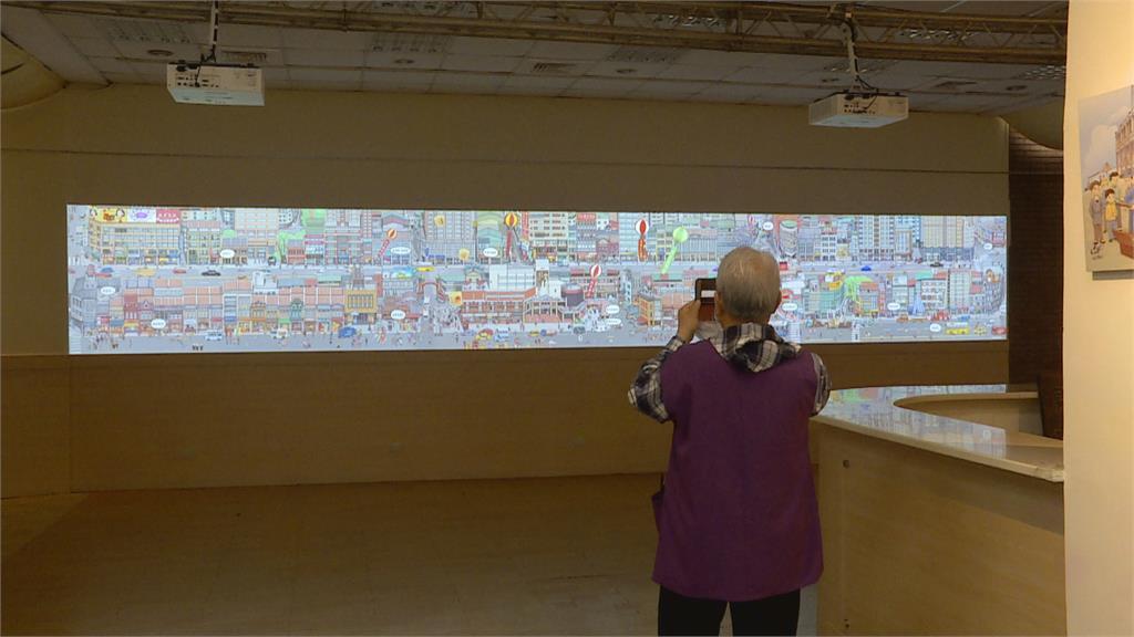 會動的4公尺長卷圖 趣味呈現熱鬧大稻埕