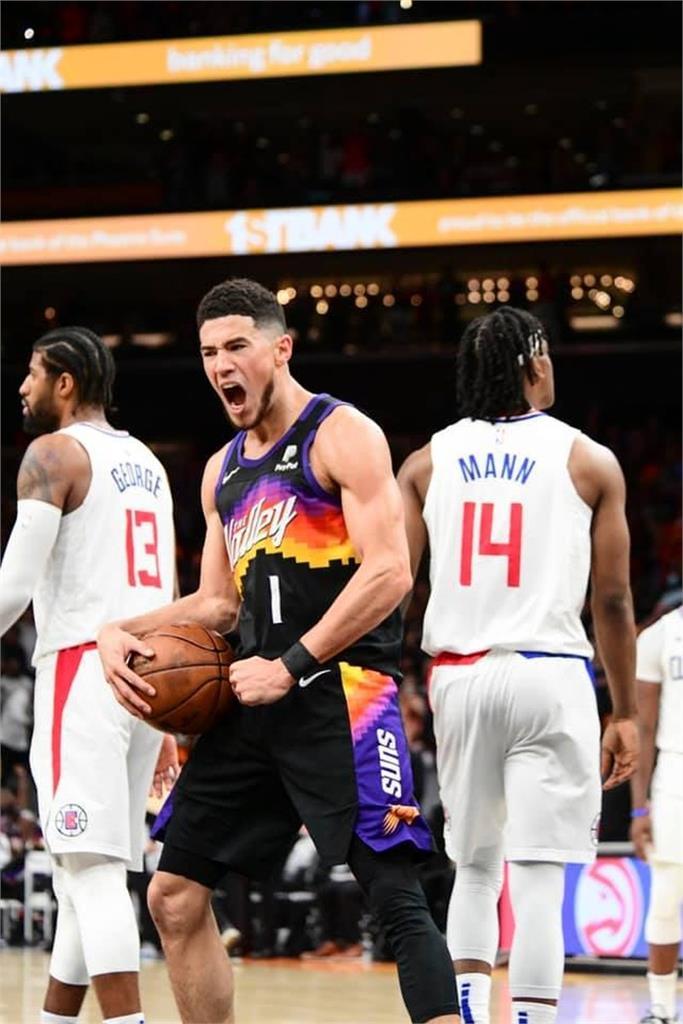 NBA/西區決賽首場布克大三元!太陽120比114勝快艇