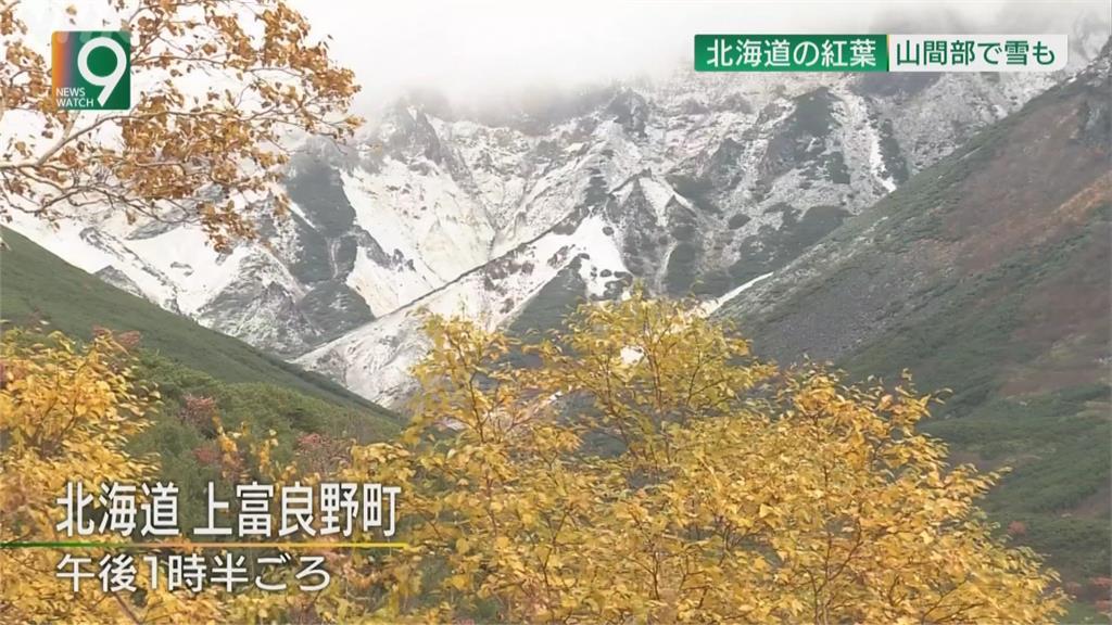 日本氣溫直直落 北海道現楓紅、降初雪