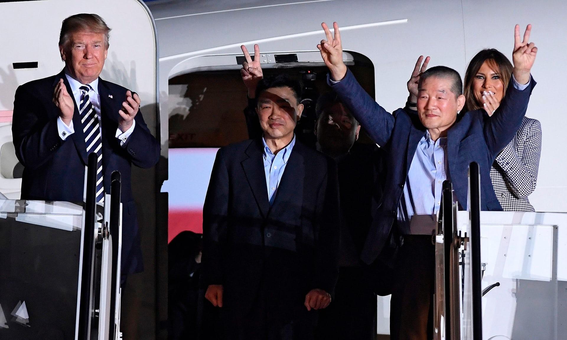 北朝鮮釋放三美國人犯 川普親自迎接