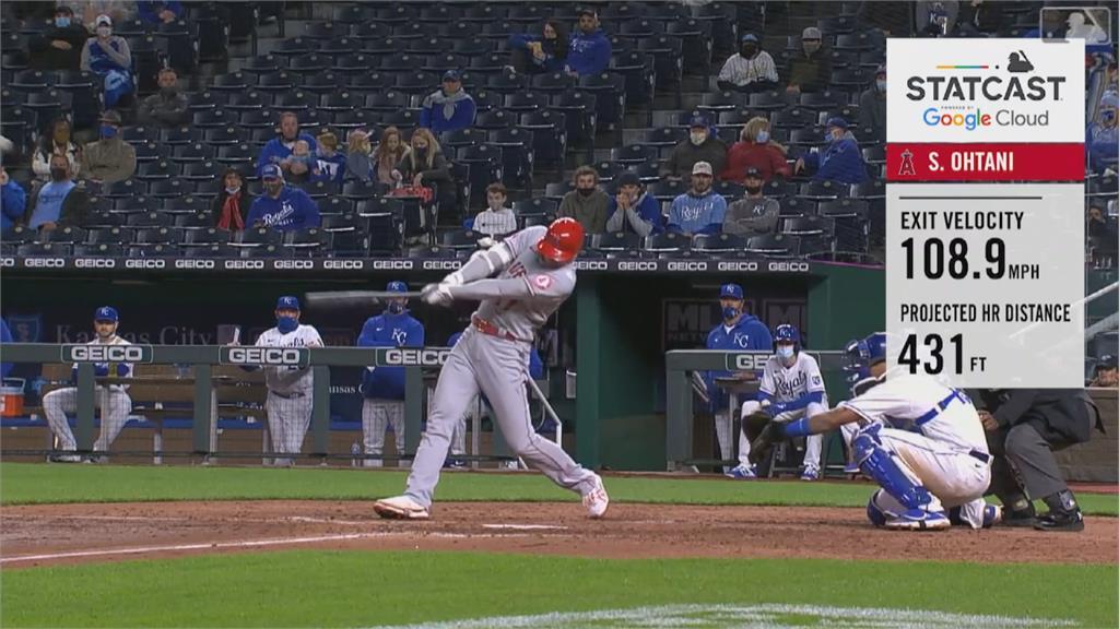 MLB/跑出內野安打 大谷翔平還敲大號全壘打