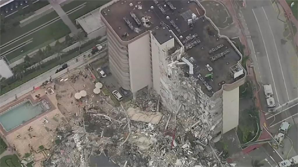 佛州12層大廈倒塌 1死99失蹤