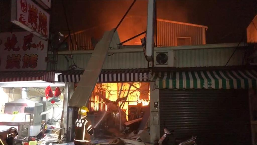 台南自助洗衣店氣爆 店內3男1女遭炸傷