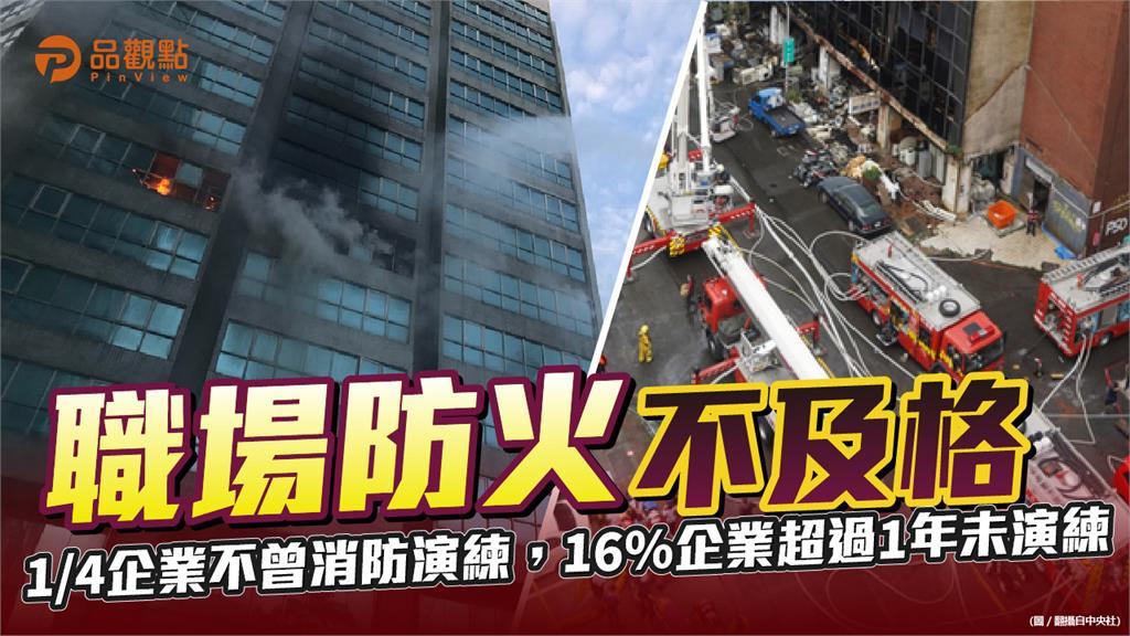 火場逃生常識 只有33%人資主管全對