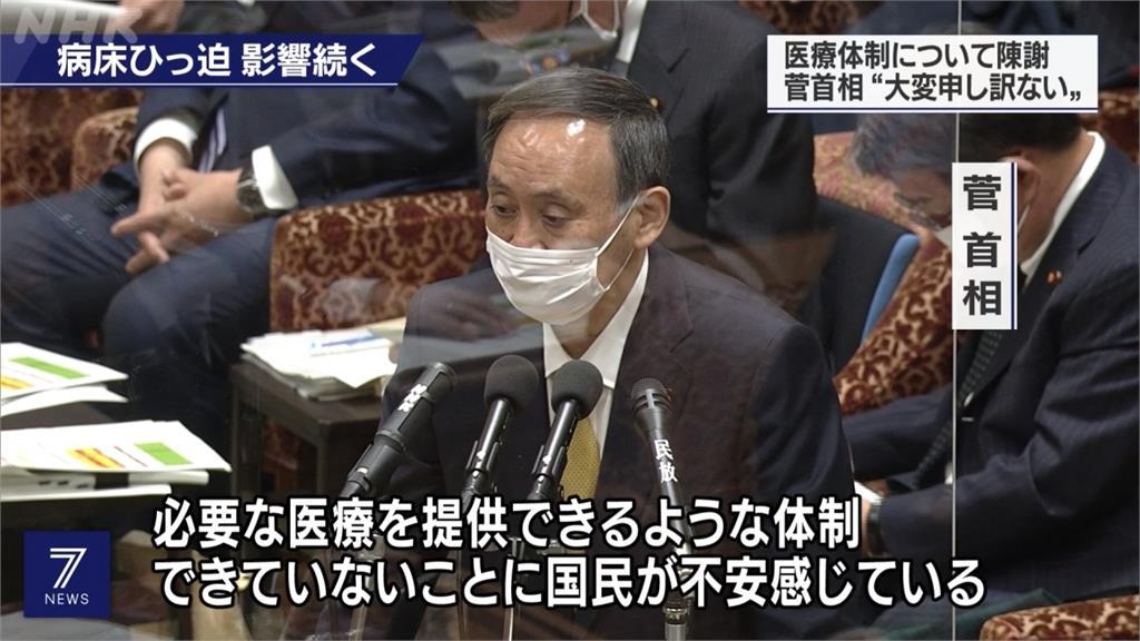日多起居家隔離病死 首相菅義偉向人民道歉