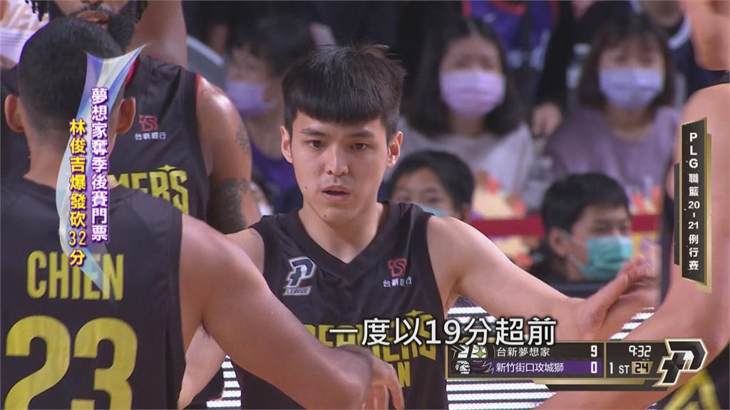 P.LEAGUE+/林俊吉爆發砍32分 夢想家奪季後賽門票