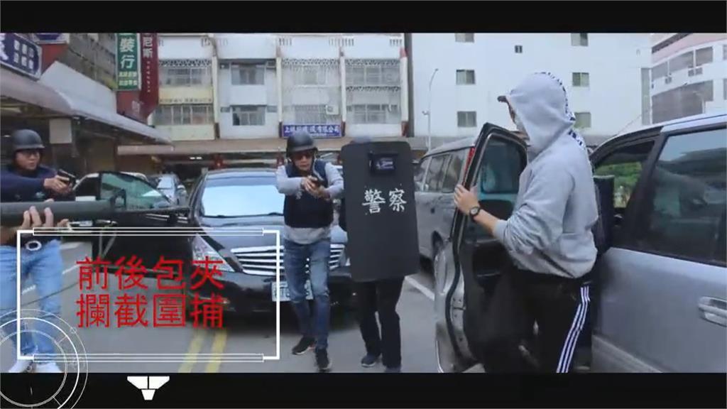 中市清水警防搶演練 空拍機助陣超逼真