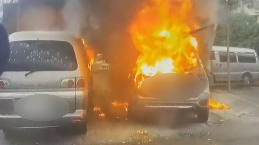 婚紗公司百萬休旅車燒成廢鐵!男子為搶救現金被燙傷