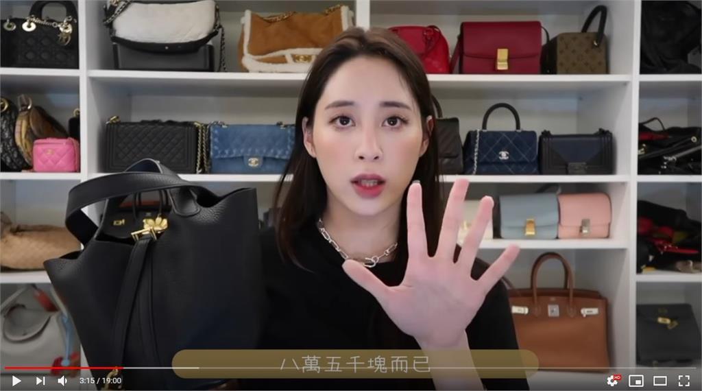 歐陽妮妮拍片秀名牌包!遭嗆「炫富害爸選不上里長」 親回:不爽別看