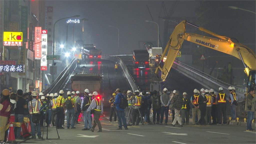 中博高架橋拆除工程首日 進度超前順利