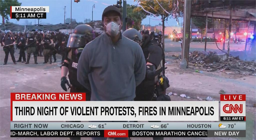 明尼亞波利斯示威一整夜 CNN非裔記者報導突被捕