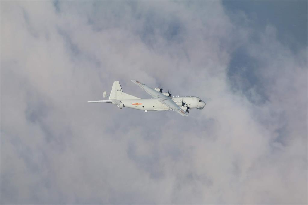 快新聞/颱風逼近中國軍機也來亂! 運8反潛機1架次闖我西南空域