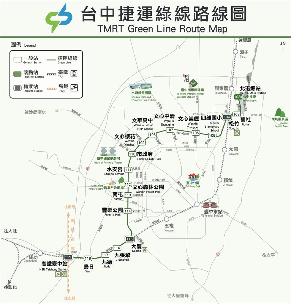 台中捷運路線圖⋯網友評「2站荒涼」北屯好市多「被封三字」