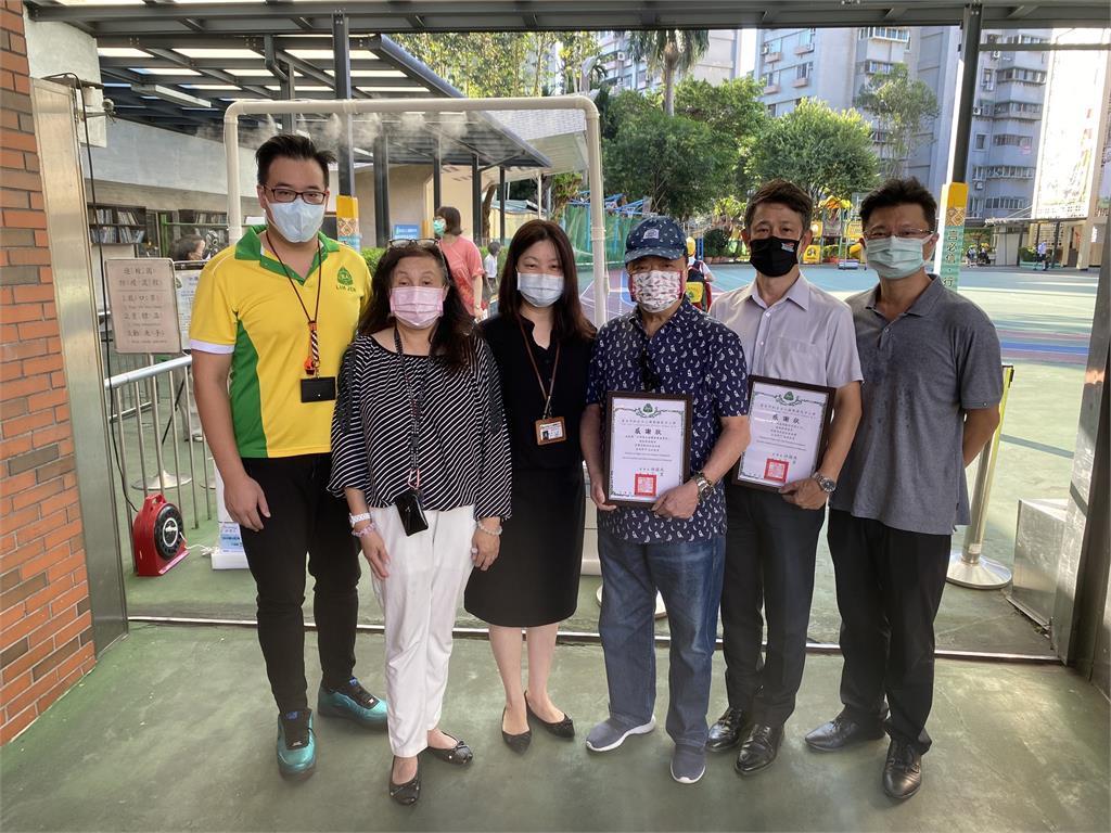 全民抗疫 立人國際中小學校結合科技  淨博士「防疫得來速」保護學童安全