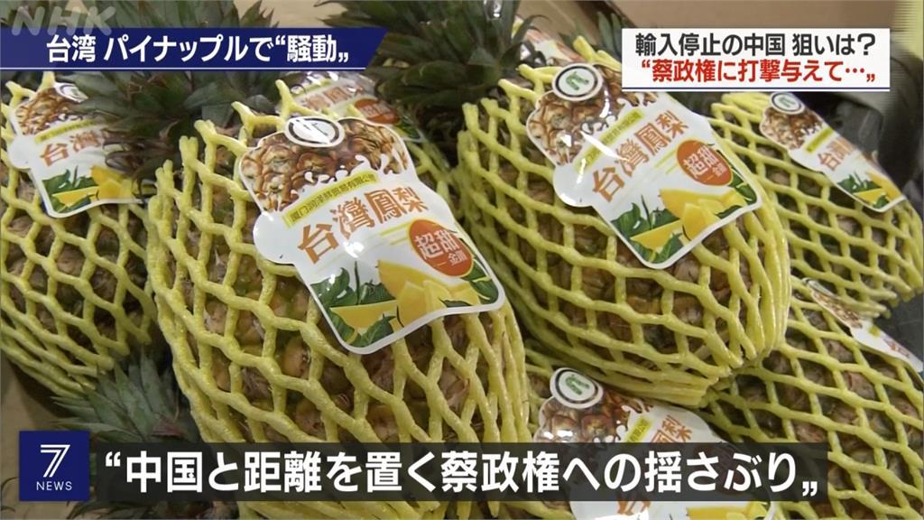 中國禁止進口台鳳梨人氣反漲 日媒關注報導