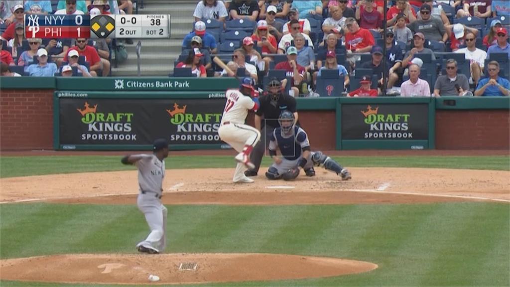 MLB/遭費城人完封橫掃 洋基三連敗勝率跌破5成
