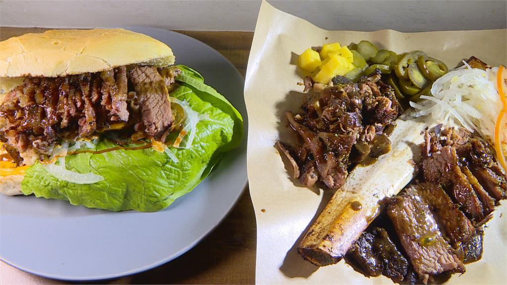 舒肥帶骨牛小排 蔬菜拼盤 一堡吃到兩口味