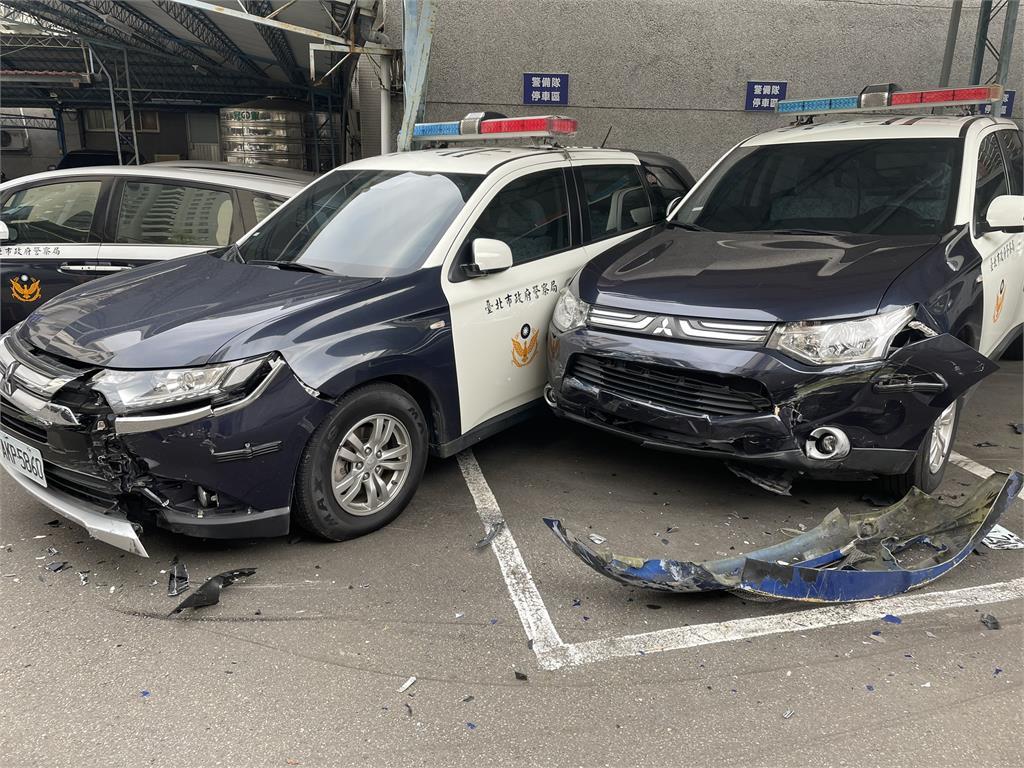 快新聞/男子駕奧迪衝撞北市文山一分局 多部警車毀損