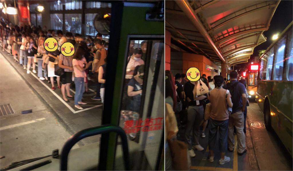 林口通勤族崩潰…等回家公車「竟像跨年人潮」