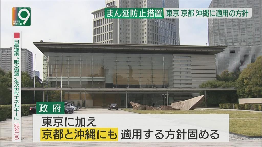 防疫情蔓延措施 東京、京都、沖繩擬12日啟用