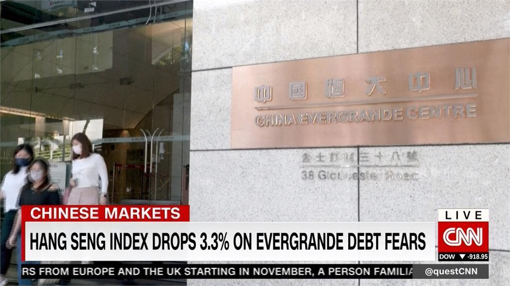 中國恆大債務危機全球恐慌 道瓊重挫614點 歐股.港股都收黑
