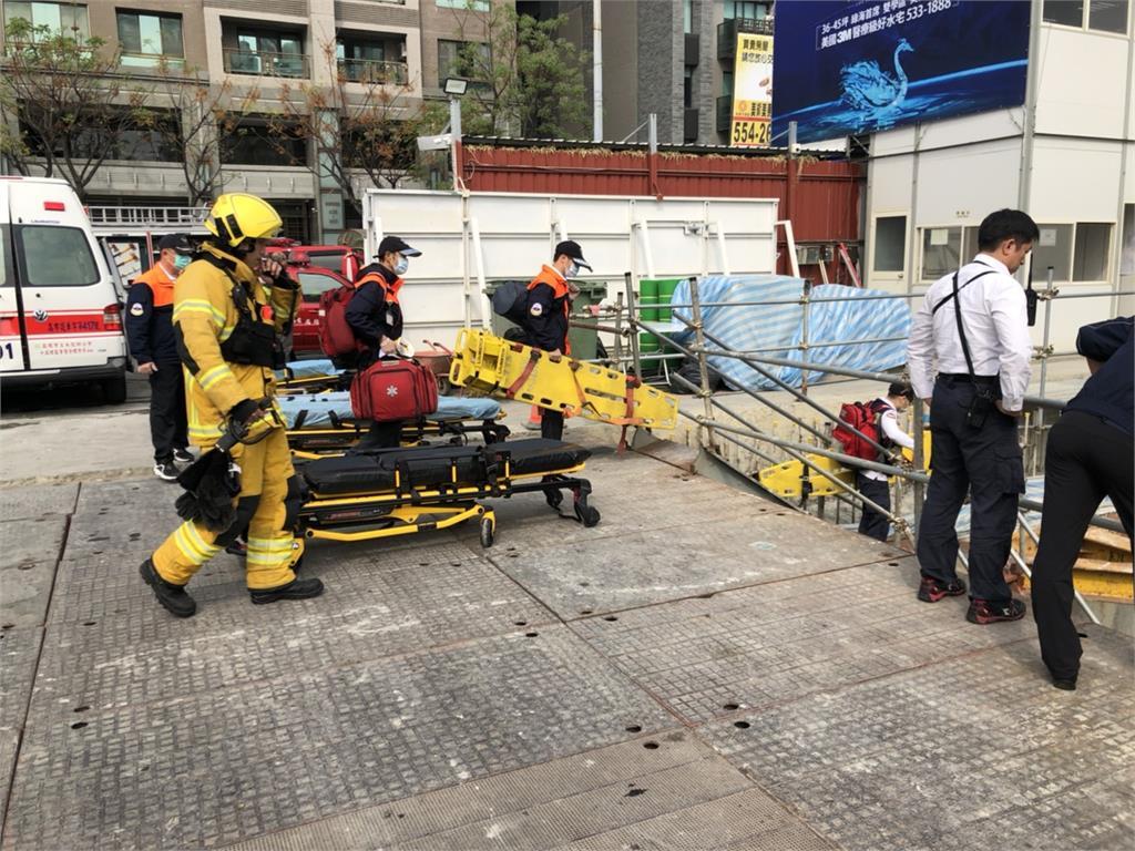 快新聞/高雄鼓山建築工地工安意外壓5工人 1死1命危