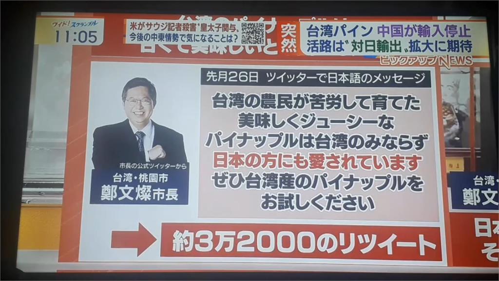 快新聞/鄭文燦接受朝日電視專訪 感謝日本挺台灣鳳梨