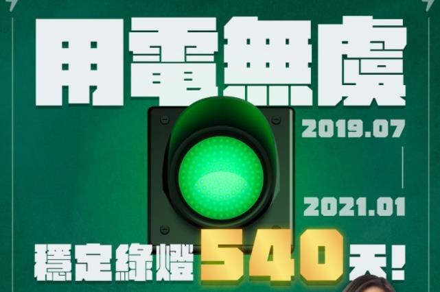 快新聞/創紀錄! 展現供電韌性穩定綠燈540天 民進黨:穩定供電是經濟提升關鍵