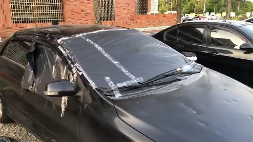 酒後衝突 撂人砸車行還開槍  洩憤撞被害人的車 自己車門先撞掉GG