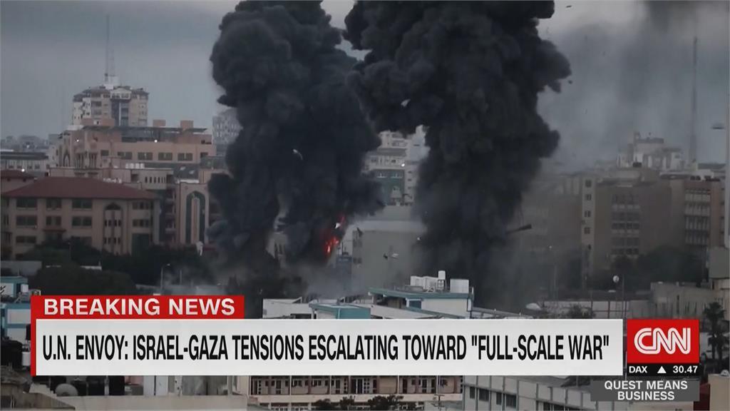 全面開戰 危機倒數!  以巴交火至少72死 已有3棟迦薩大樓遭炸毀