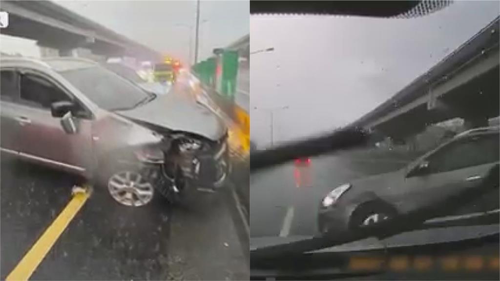 慎防豪雨!開車「水漂效應」驚恐連環撞 3大要點避免車毀人亡