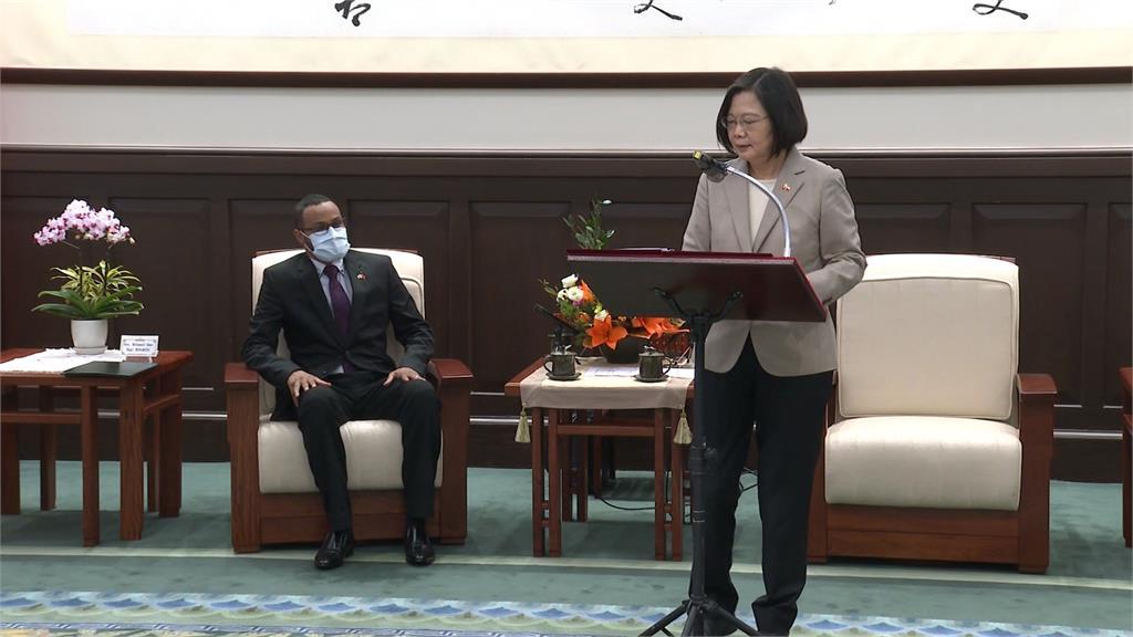 接見索馬利蘭代表 總統:做彼此堅實夥伴